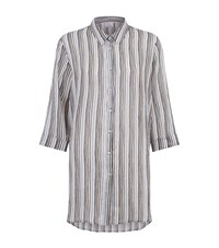 Marina Rinaldi Striped Shirt Beige