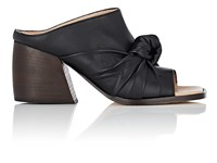 Helmut Lang Knotted Leather Mules Black