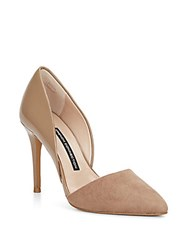 French Connection Elvia Leather And Suede D'orsay Pumps Hazelwood