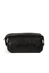Polo Ralph Lauren Leather Dopp Kit In Black