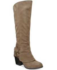 American Rag Eboni Cuffed Boots Only At Macy's Women's Shoes Taupe