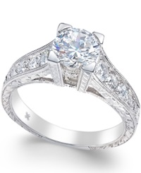 Macy's Certified Diamond Channel Set Engagement Ring 1 1 2 Ct. T.W. In 18K White Gold