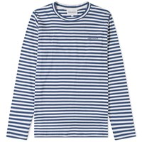 Norse Projects Long Sleeve James Logo Stripetee Blue