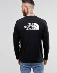 The North Face Long Sleeve Top With Easy Logo In Black