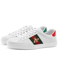 Gucci New Ace Grg Bee Sneaker White