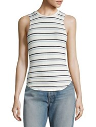 Frame Double Striped Tank Top Off White Multi
