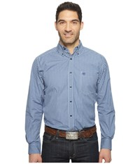 Ariat Cole Shirt Fresh Indigo Men's Clothing Blue