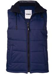 Yves Salomon Quilted Puffer Vest Blue