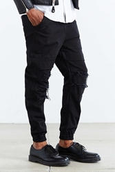 Publish Max Destructed Jogger Pant Black