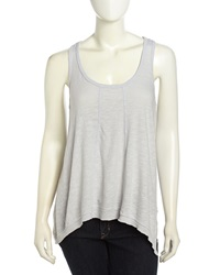 W By Wilt Paneled Slouchy Handkerchief Tank Platinum