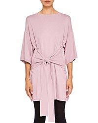 Ted Baker Says Relax Olympy Tie Front Knit Tunic Dusky Pink