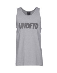 Undefeated Tank Tops Grey