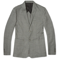 Edifice Wool Georgette 2 Button Blazer Grey