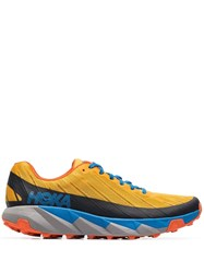 Hoka One One Mustard Yellow Torrent Trail Low Top Running Sneakers Gold Fusion Dresden Blue