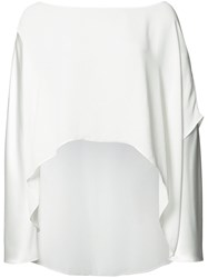 Peter Cohen High Low Hem Blouse White