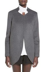 Women's Finders Keepers The Label 'Long Time' Open Front Wool Blend Coat