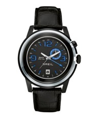 Breil Milano Dual Time Strap Watch Stainless Steel Black