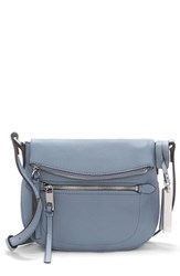 Vince Camuto Tala Small Leather Crossbody Bag Blue Serenity Blue