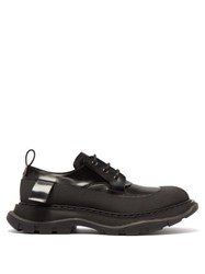 Alexander Mcqueen Raised Sole Leather Derby Shoes Black