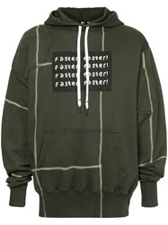 Liam Hodges Faster Panelled Hoodie Green