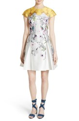 Ted Baker Women's London Reliat Passion Flower Cap Sleeve Dress