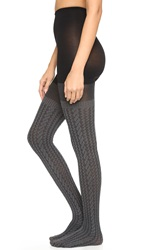 Spanx Cable Knit Tights Sweater Grey