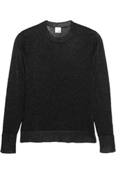 Iris And Ink Estella Jacquard Sweater Black