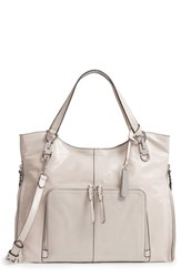 Vince Camuto Narra Leather Tote White Silver Cloud