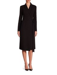 Akris Double Face Wool Wrap Dress Black