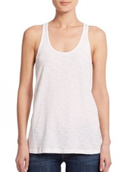 Theory Lydra Racerback Tank Top Harbour White Cote Black