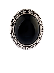 Saint Laurent Boite Silver And Quartz Hinged Ring