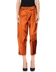 Pt0w Trousers Casual Trousers Women Rust