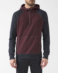 Element Navy Blue And Red Two Colour Meridian Raglan Hoodie