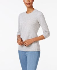 Charter Club Cashmere Crew Neck Sweater Only At Macy's Heather Crystal