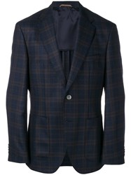 Hugo Boss Checked Blazer Blue