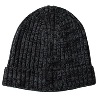 Lords Of Harlech Bob Beanie In Charcoal Black Grey