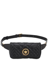 Versace Icon Quilted Leather Belt Bag Black