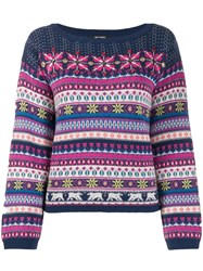 Twin Set Fairisle Jumper Blue