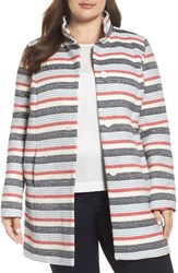 Persona By Marina Rinaldi Plus Size Women's Nastrino Stripe Woven Coat
