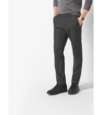 Slim Fit Houndstooth Trousers Charcoal