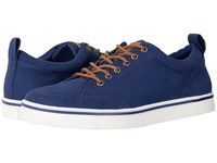 Vionic Orion Navy Canvas Teak Men's Lace Up Casual Shoes Blue