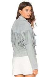 Sir The Label Thelma Fringe Jacket Gray