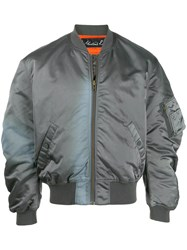 Martine Rose Gathered Sleeves Bomber Jacket Grey