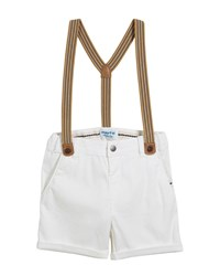 Mayoral Chino Shorts W Suspenders Size 12 36 Months White