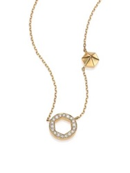 Marli Astrid Diamond And 18K Yellow Gold M M Circle Necklace