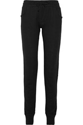 Majestic Cotton And Cashmere Blend Jersey Sweatpants Black