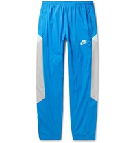 Nike Sportswear Re Issue Tapered Colour Block Nylon Ripstop Track Pants Blue