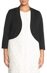 Plus Size Women's Eliza J Three Quarter Sleeve Shrug Black