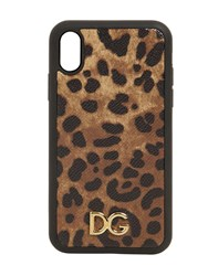 Dolce And Gabbana Leopard Print Leather Iphone X Xs Case
