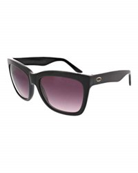 O By Oscar Thick Square Plastic Sunglasses Black